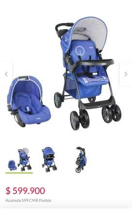 Coche con silla de carro o porta bebe
