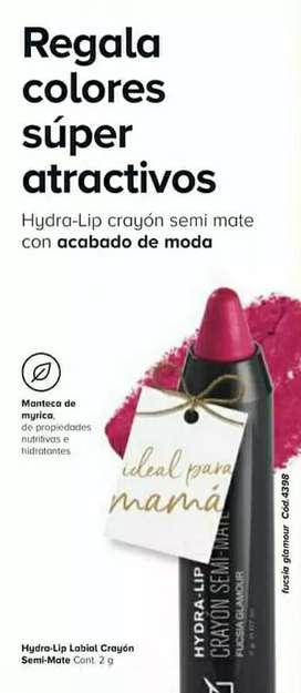 Hydralip labial crayón semi mate fucsia glamour unique