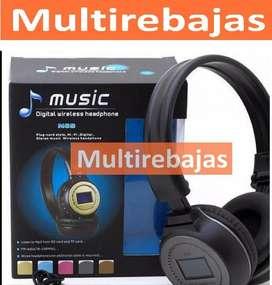 Audifono Con Radio Fm Y Pantal Inalambrico