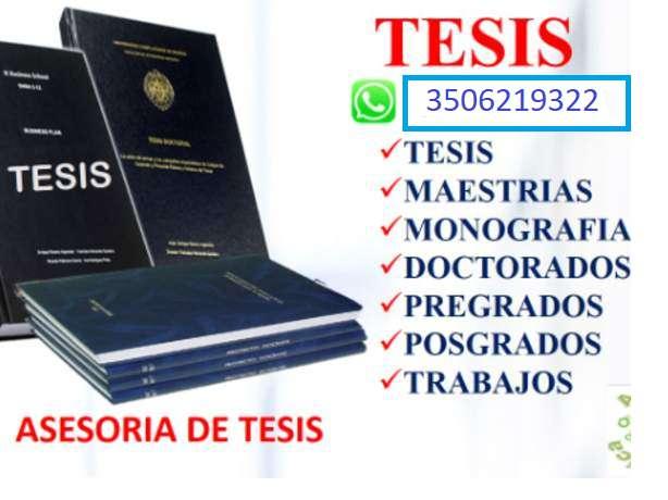 ASESORÌAS EN TESIS, MONOGRAFÌAS, PROYECTOS, PROPUESTAS, ANTEPROYECTOS, TRABAJOS URGENTES. 0