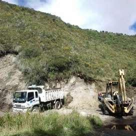 Desalojos,limpieza de terrenos y adquisición de material para la construccio