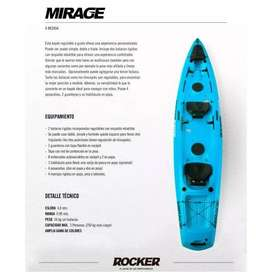 Kayak 2/3 personas Rocker Mirage