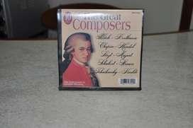 10 Cds Musica Clasica The Great Composer, Con Estuche!