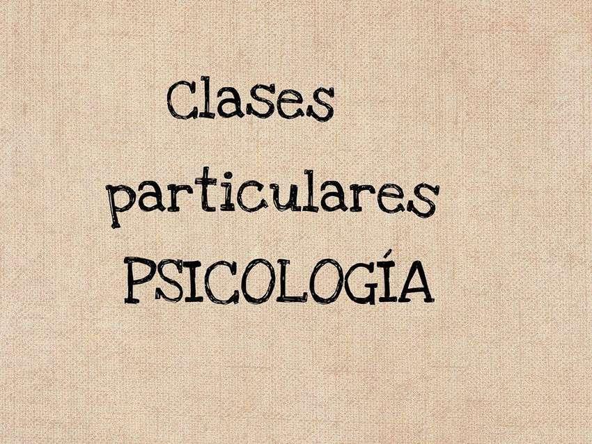 CLASES PARTICULARES DE PSICOLOGÍA 0