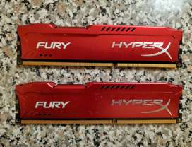 Memoria Ram Hyperx Fury 8gb Ddr3 1866mhz Cl10/hx318c10frk2/8