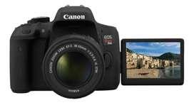 Cámara canon t6i con lente 18-55 nueva garantía de 1 año