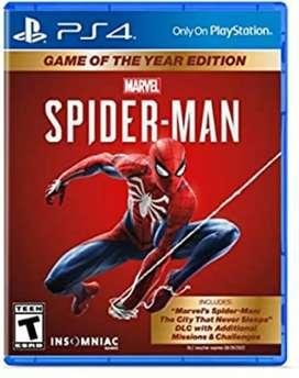 Juego ps4 fisico como nuevo spider man