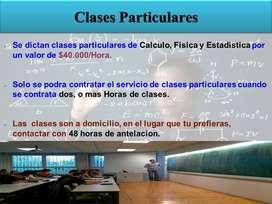 CLASES PARTICULARES EN CHIA, CAJICA Y NORTE DE BOGOTA DE CALCULO, FÍSICA, Y ESTADÍSTICA
