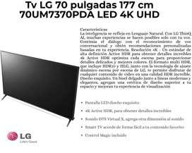 Tv LG 70 pulgadas 177 cm 70UM7370PDA LED 4K UHD