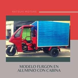 Motocarro furgonado con cabina Nuevo