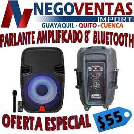 PARLANTE AMPLIFICADO BLUETOOTH DE 8 PULGADAS