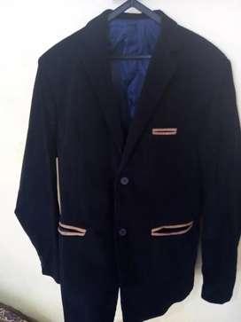 Saco de corderoy azul marino para hombre