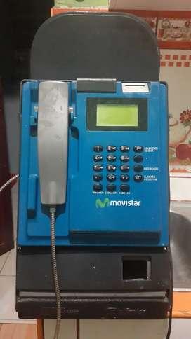 Teléfono público monedero