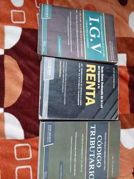 Vendo por ocasión libros de IGV,código tributario yla renta