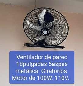 Ventilador 18pulgadas 100W 110V. Potentes
