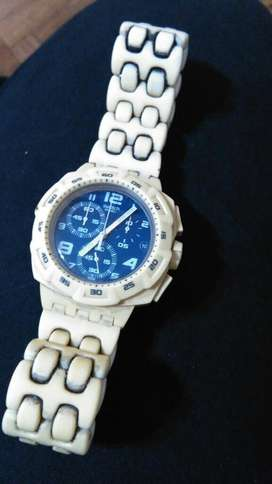 Reloj Swacht Blanco Hombre