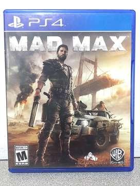 Vendo Mad Max PS4 valor $40.000