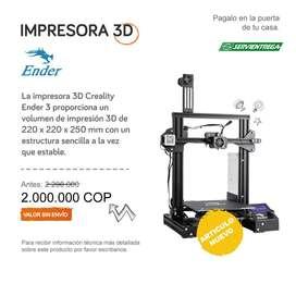 IMPRESORA 3D ENDER CREALITY 3 PAGO CONTRAENTREGA