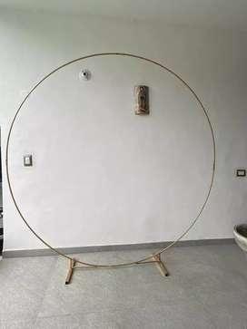 Alquiler de aro metalico para decoraciones