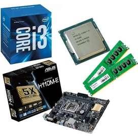 Combo Intel I3 6100 Con Motherboard Y 8 Gb De Ram Ddr4