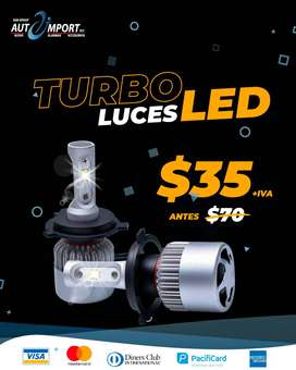 LUCES TURBO LED Envíos a nivel Nacional. Aceptamos Tarjeta