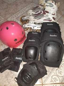 Usado, Rollers con todos sus accesorios,poco uso. segunda mano  Posadas, Misiones