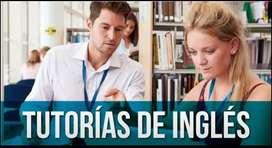 Clases de inglés y asistencia de trabajos y exámenes virtual o a domicilio.