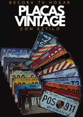 Placas decorativas estilo vintage