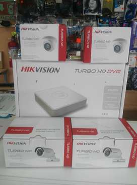 Combo Camaras Hikvision Dvr 8 Canales Hd