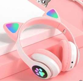 DIADEMA BLUETOOTH GATO MP3 RECARGABLE