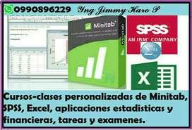 CLASES PERSONALIZADAS A DOMICILIO DE ESTADISTICA, SPSS, MINITAB, EXCEL, MATE FINANCIERAS, CALCULO, TAREAS, EXAMENES,