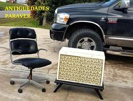 antiguo sillón oficina diseño charles eames retro vintage 60 aluminio