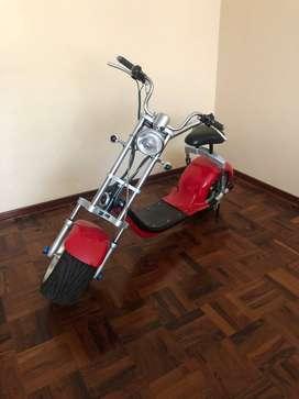 VENDO MOTO ELECTRICA TIPO HARLEY REND 70KM POR CARGA 3 VELOCIDADES