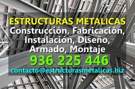 Estructuras Metálicas: Construcción, Fabricación, Instalación, Montaje