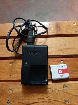 Vendo cargador y bateria para camara sony