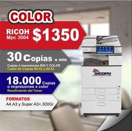 Copiadora Ricoh Mpc3004 + Garantia