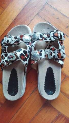 Sandalias Animal Print N40 ÚLTIMO PRECIO HERMOSAS zapatos 40