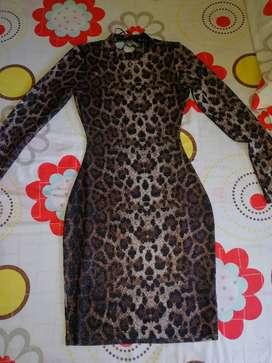 Vestido Elegante Animal Print