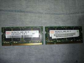 RAM ACER ASPIRE - 2 Memorias DDR2 2GB para Laptop - Notebook