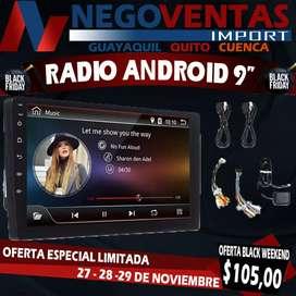 """RADIO ANDROID DE 9"""" MEGA PROMOCIÓN EXCLUSIVA ÚNICA DE NEGOVENTAS POR TIEMPO LIMITADO APROVECHA Y LLEVA EL TUYO"""