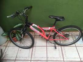 Bicicleta 24 Mountain Bike Aros Aluminio