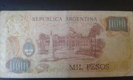 Billete De 1000 Pesos Argentino Antiguo