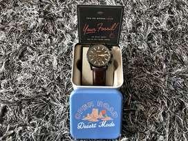 Fossil Townsman - Reloj cronógrafo de cuarzo para hombre, acero inoxidable y cuero, cronógrafo