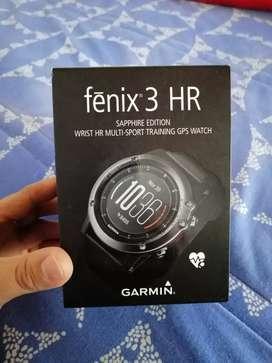 Garmin fénix 3HR con accesorios, garantía de 10 meses,