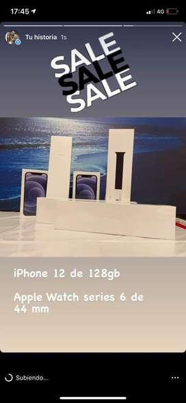 Iphone 12 de 128 gb y apple watch serie 6 de 44 m
