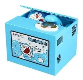 Alcancía Roba Monedas Doraemon Gato Cósmico