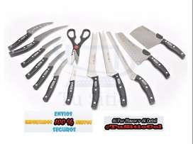 Set Cuchillos Envio Gratis Profesionales Miracle Blade de la Tv 13 Piezas