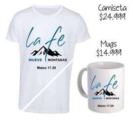 Camiseta + Mug Mensaje Cristiano