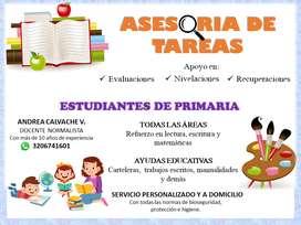 ASESORIA DE TAREAS - DOCENTE EN CASA