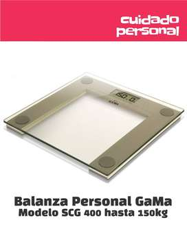 Balanza GaMa SCV400 transparente hasta 150 kg